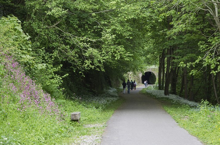 The Nearby Two Tunnels Shared Use Cycle Path at Tucking Mill
